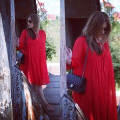 Red Summer Dress #reddress #summer #maternitystyle #pregnancystyle #babybump #pregnant #style #streetstyle #ootd #dress #look #outfit