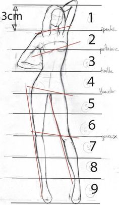 Tuto: How to draw a style figurine - Baz-Art - Croquis de mode - Illustration Techniques, Illustration Mode, Fashion Illustration Sketches, Drawing Techniques, Drawing Tips, Fashion Model Sketch, Fashion Sketches, Fashion Figure Drawing, Fashion Design Drawings