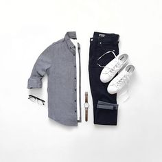 minimal outfit grid for men #mens #fashion