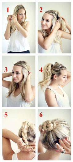 Braided bun tutorial.