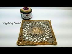 "Learn How To Crochet Kaleidoscope 12"" Granny Square Crochet TUTORIAL #411 - YouTube"