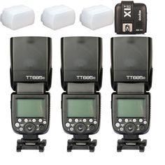 3* Godox TT685C 2.4G HSS E-TTL GN60 Wireless Flash X1T-C Trigger for Canon EOS #GODOX