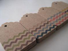 Chevrons craft tags