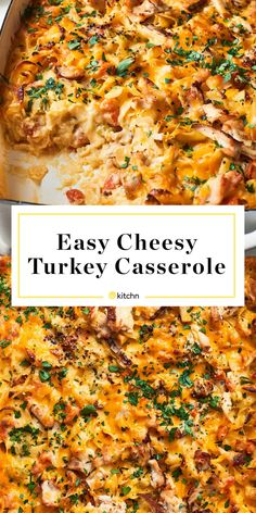 Leftovers Recipe: Turkey Noodle Casserole - - Creamy cheddar béchamel tossed with noodles, leftover turkey, and veggies, all baked to perfection. It's comfort food at it's finest. Cooked Turkey Recipes, Leftovers Recipes, Ground Turkey Recipes, Cooking Turkey, Dinner Recipes, Chicken Recipes, Turkey Leftovers, Shredded Turkey Recipe, Healthy Leftover Turkey Recipes
