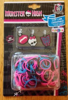 Monster High Loom Rubberbands And Charms NEW Use With Rainbow Loom Bands