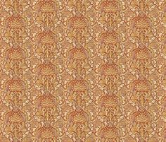 Released today: 10/22/15: Corona Chestnut fabric by amyvail on Spoonflower - custom fabric