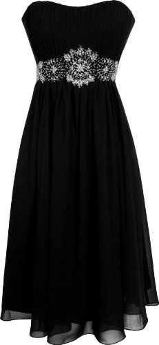 Strapless Chiffon Goddess Gown Prom Dress Formal Knee-Length Junior Plus Size $99.99