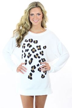 Leopard spots sweater. Would wear this ...
