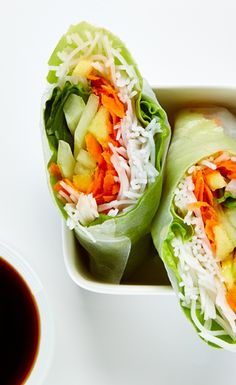 Refreshing Vegetable Salad Rolls #BiteMeMore #healthy
