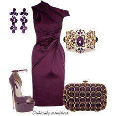 Purple by oribeauty-cosmeticos on Polyvore featuring moda, Elie Saab, Talullah Tu, Isharya, Oscar de la Renta and Karen Millen