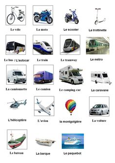 Afficher l'image d'origine French Language, Transportation, Playing Cards, Images, Travel, French Tips, Index Cards, Fle, Printables