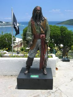 pirate statue at Black Beards Castle - St. Thomas, Virgin Islands