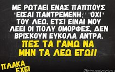 Funny Greek Quotes, Funny Quotes, Funny Facts, Just For Laughs, Lion, Jokes, Humor, Funny Phrases, Funny Fun Facts