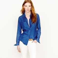 j. crew • blythe blouse Wore once for a few hours J. Crew Tops Button Down Shirts