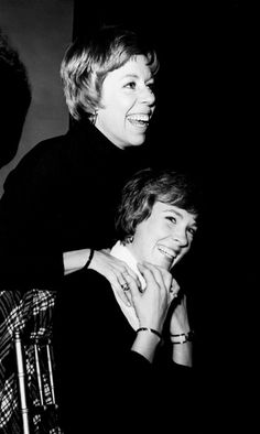 Best friends, Carol Burnett & Julie Andrews.  What I wouldn't do to spend a day with these two.