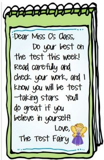 5 days of test treats from the Test Fairy!  Great to use during standardized testing week.  Free printables included.