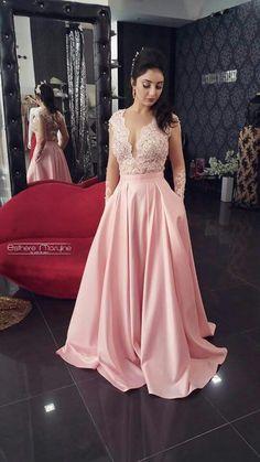Vestidos Pink Prom Dresses, Prom Party Dresses, Evening Dresses, Formal Dresses, Long Dresses, Night Wedding Photos, Wedding Night, Pink Lace, Bridesmaid