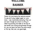 Black and white chevron banner/bunting to welcome students and adults to your classroom.  Just print, laminate, cut, and add string! This pattern a...