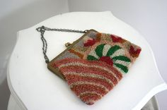 RARE Vintage 1920s Deco Tufted Frame Purse by adelinesattic, $78.00