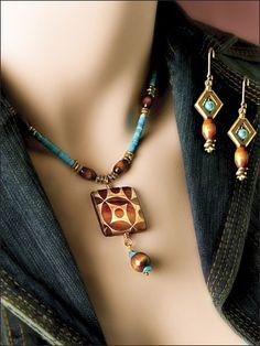 Beading - Jewelry Patterns - Sets Patterns - Turquoise Temptation Set