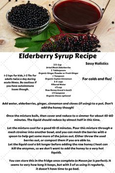 Elderberry Syrup Recipe for Colds and Flus I've only dealt with the flu once in my life, and I was lucky enough to know about elderberries! Our bout with the flu was only about 3 days thanks to starting elderberry syrup on day 1 of getting sick. Cold Home Remedies, Flu Remedies, Natural Health Remedies, Herbal Remedies, Bloating Remedies, Natural Medicine, Herbal Medicine, Elderberry Recipes, Elderberry Syrup Benefits