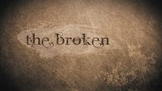 The Broken (short film) THE PEOPLE WHO FOLLOW ME(SOME OF YOU) STRUGGLE WITH THESE THINGS. PLEASE TAKE THE TIME TO WATCH THIS VIDEO. GOD IS YOUR HOPE. NO ONE CAN TAKE THAT AWAY FROM YOU :)
