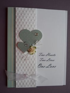 Handmade Wedding or Anniversary Card by CooCoo4UCreations on Etsy, $3.00