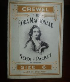 Antique late 1800s The Flora Macdonald Needle Packet - Abel Morralls - Crewel - Size 6 https://treasurevalleyantiques.com/products/antique-late-1800s-the-flora-macdonald-needle-packet-abel-morralls-crewel-size-6-cross-fox-trademark#Antiques #Advertising #Style #Sewing #Fashion #Vintage #Needles #MuseumDecor #MovieDecor #MovieProps #Props #Authentic #Original #QualityGoods #BuyOnline #FilmDecor #InteriorDecorating #Collecting #Collection #Decorating #Collectible #Collectibles #Collectable…