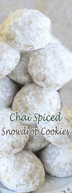Chai Spiced Snowdrop Cookies