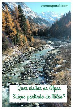 Se está em Milão não deixe de fazer este passeio pelos Alpes Suíços. Embarque no trem Bernina Express, rumo a cidade de St. Moritz.