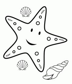 Cartoon Starfish Coloring Page | Online Coloring Pages