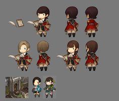 DMMの新作ハクスラ「ダンジョンストライカー」,エルフの重要人物を含むNPC4人を新たに公開 - 4Gamer.net Game Character Design, Kid Character, Character Costumes, Character Design References, Character Design Inspiration, Character Concept, Chibi Knight, Chibi Games, Game Concept Art