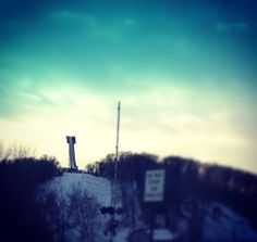 This is a competition ski jump in Minnesota.
