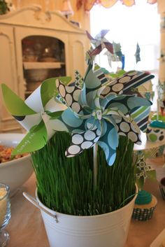 First birthday ideas - pinwheels as party favors? (DIY?)
