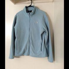 The North Face fleece jacket Light blue north face fleece jacket in good used condition The North Face Jackets & Coats