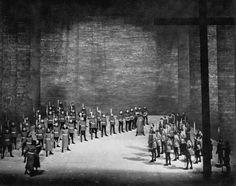 """"""" Tannhäuser """" 1.Aufzug 2.Bild 1954 Wieland Wagner  Bühnenphoto"""