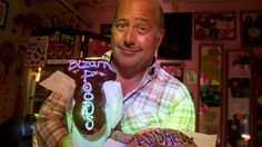 Andrew Zimmern with Voodoo Dughnuts in Portland Oregon