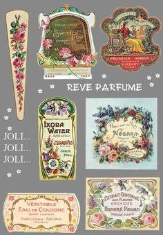 Vintage Images, Vintage Designs, Grasse France, Wine Label Art, Decoupage Jars, Etiquette Vintage, Paper Trail, Vintage Paper Dolls, Bottles And Jars