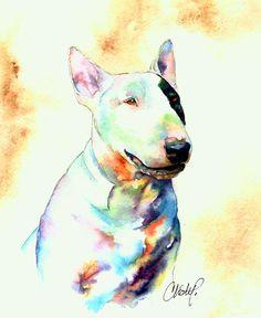 Resultado de imagen de bull terrier painting