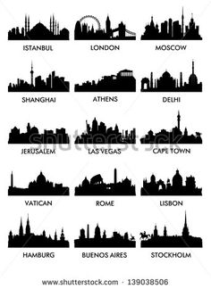 silhouette of city skyline - Google Search
