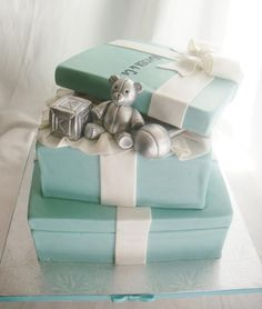 Tiffany & Co. baby shower cake