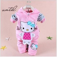 Baby clothing set Kids 2pcs clothes set girls hoody pants suit children cartoon sport suits tracksuit clothes free shipping #Affiliate