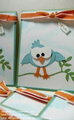 Silly bird punch art - bjl