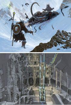 Artes de The Elder Scrolls Skyrim e Online | THECAB - The Concept Art Blog