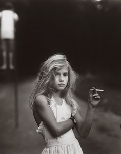 Sally Mann Photography    Candy cigarette, 1989