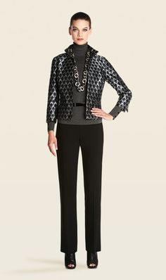 CITYSCAPE GRAY, SILVER, BLACK PRINT JACKET | Carlisle Collection | Per Se | Collections | Lookbook | Carlisle | Holiday 2013 | 9