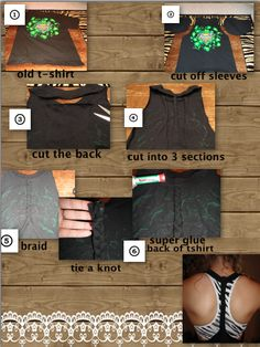 Racerback workout shirt - Sew instead of super glue, to make sure it stays put!