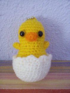 Llavero pollito  #crochet #ganchillo #handmade #keychain #chick  https://www.facebook.com/ovilladans/