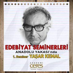 Feneryolu Şubemizde Edebiyat Seminerleri 'Yaşar Kemal' le başlıyor. Feridun Andaç'ın anlatımı ile başka bir Yaşar Kemal dinleyeceksiniz.