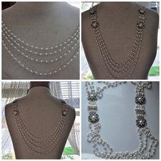 Bridal NecklaceBackdrop NecklaceBridal Pearl by cynthiacouture, $859.00